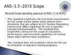 ans 3 5 201x scope