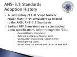ans 3 5 standards adoption history