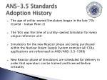 ans 3 5 standards adoption history13