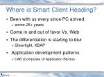 where is smart client heading
