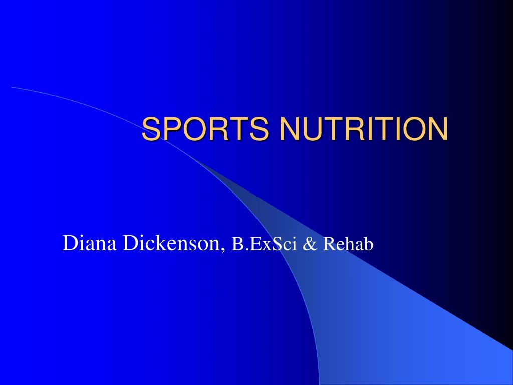 sports nutrition l.