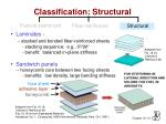 classification structural