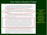 one history student s paper