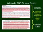 wikipedia and student paper