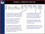example 1 sensitivity analysis