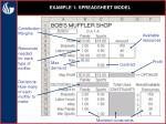 example 1 spreadsheet model16