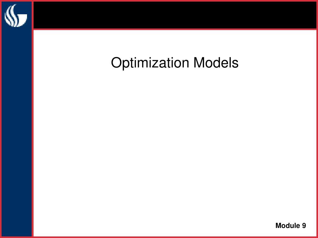 optimization models l.