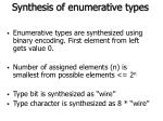synthesis of enumerative types