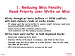 1 reducing miss penalty read priority over write on miss1