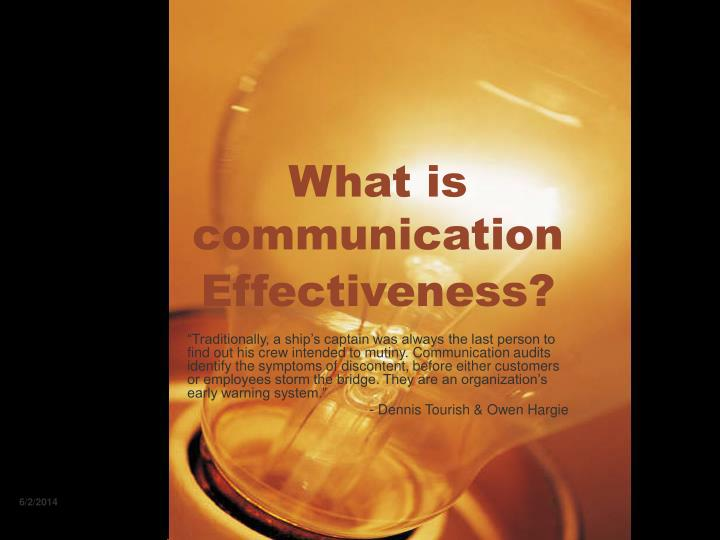 what is communication effectiveness n.