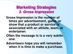 marketing strategies 3 gross impression
