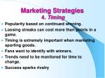 marketing strategies 4 timing