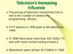 television s increasing influence