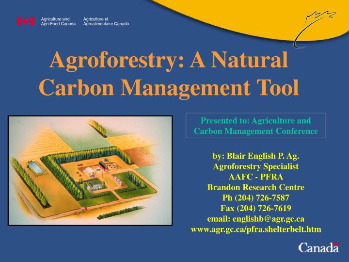 agroforestry a natural carbon management tool n.