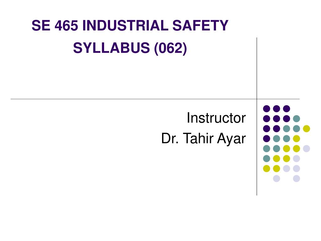 se 465 industrial safety syllabus 062 l.