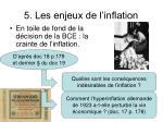 5 les enjeux de l inflation
