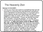 the heavenly zion