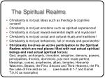 the spiritual realms