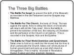 the three big battles