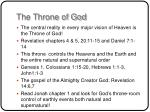 the throne of god
