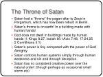 the throne of satan