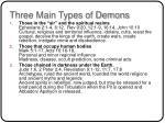 three main types of demons
