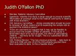 judith o fallon phd