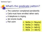 what s the predicate pattern