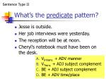 what s the predicate pattern11