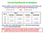 converting results to numbers