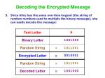 decoding the encrypted message