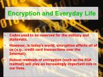 encryption and everyday life