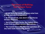 the force of nothing the casimir force
