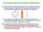 the wacky world of quantum mechanics