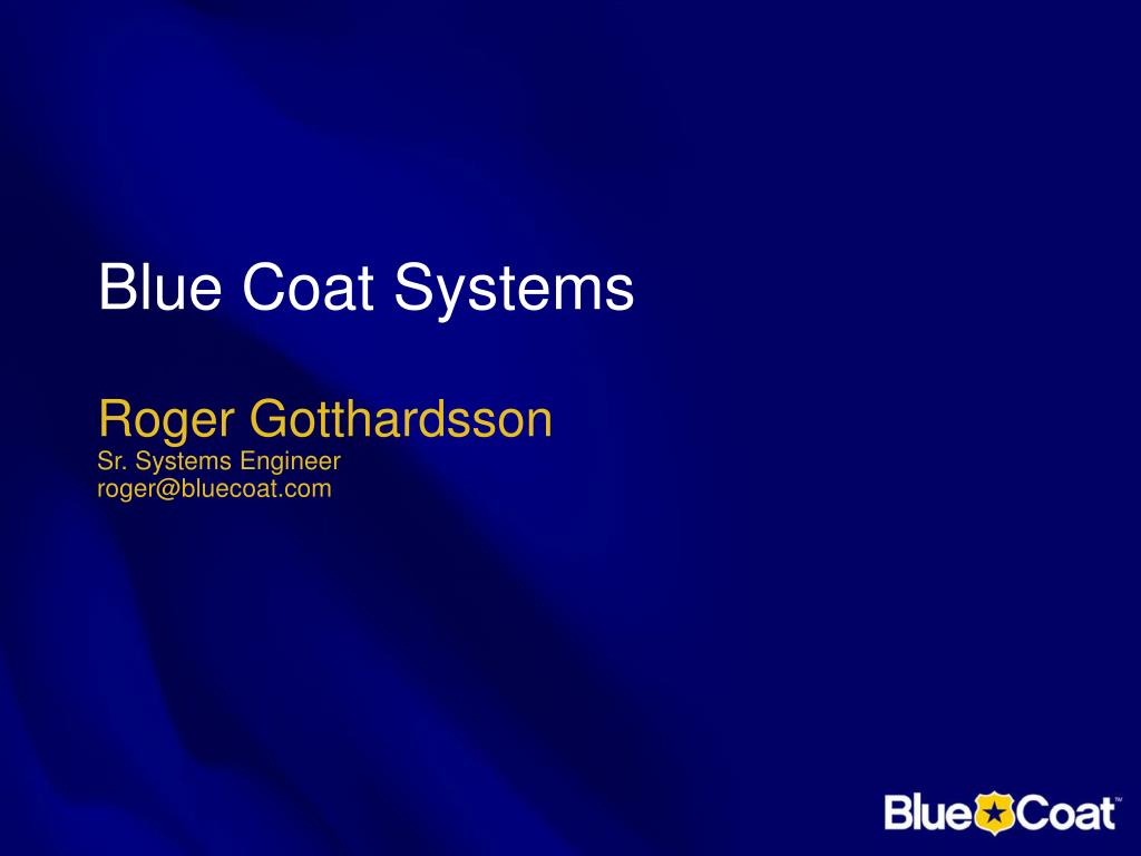 blue coat systems l.