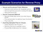 example scenarios for reverse proxy