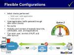 flexible configurations40