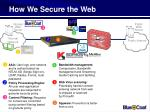 how we secure the web21