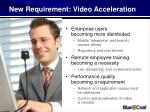 new requirement video acceleration
