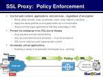ssl proxy policy enforcement