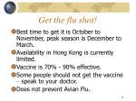 get the flu shot