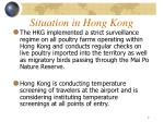 situation in hong kong