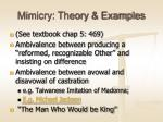mimicry theory examples