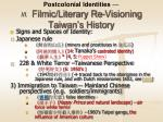 postcolonial identities iii filmic literary re visioning taiwan s history