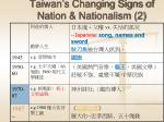 taiwan s changing signs of nation nationalism 2