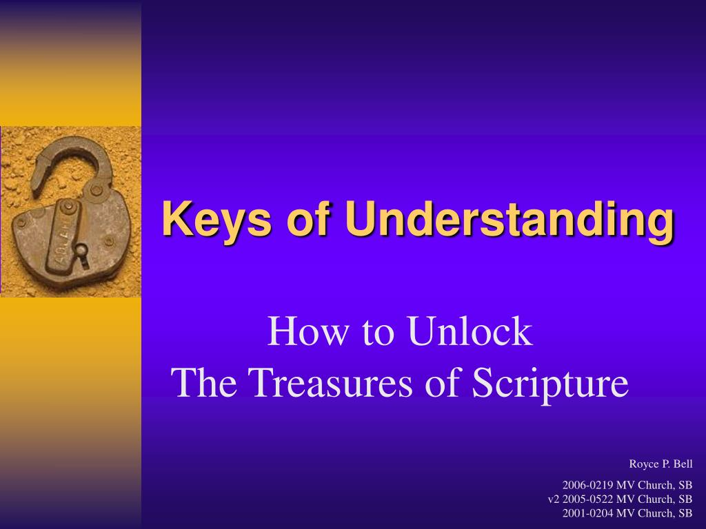 keys of understanding l.