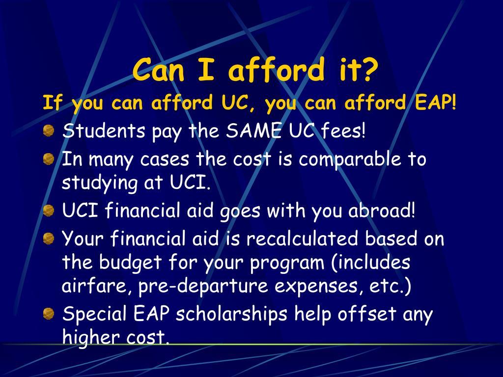 Can I afford it?