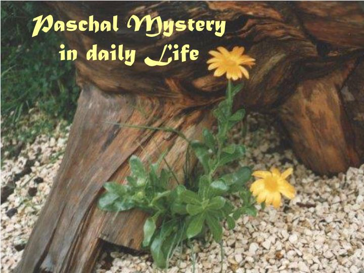 paschal mystery in daily life n.