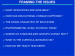 framing the issues2