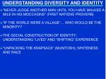 understanding diversity and identity